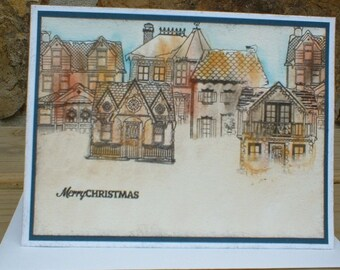 Christmas Town Greeting Card