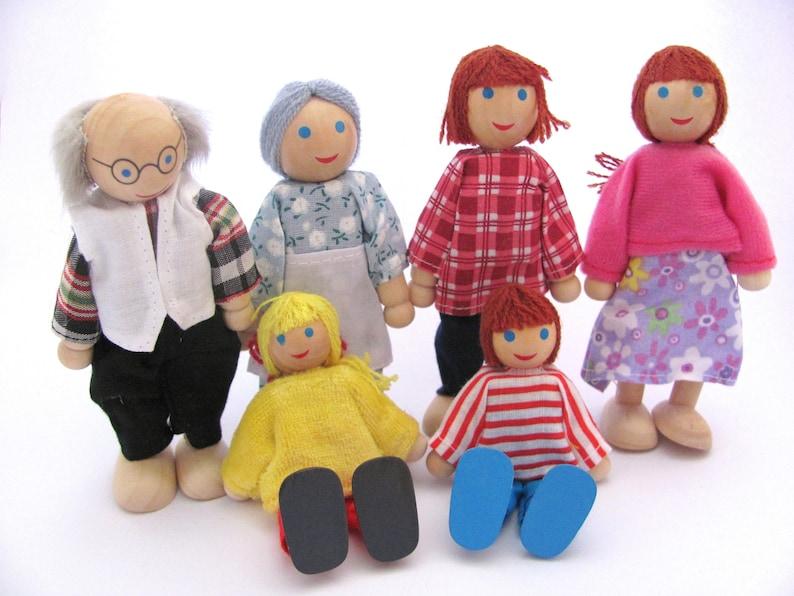 3fc96a6a5bc828 Hölzerne Familie Spielzeug für Kinder Weihnachten Geschenk für