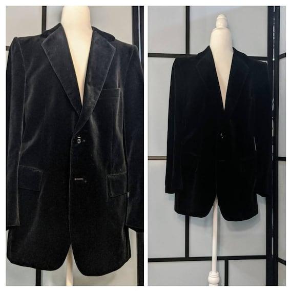 Yves Saint Laurent Men's 1980's Black Velvet Black