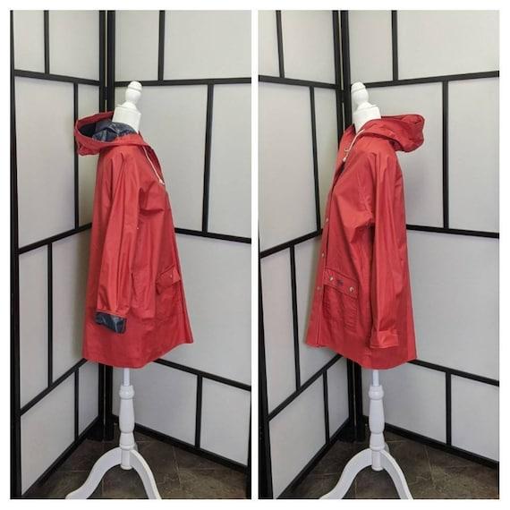 Vintage Lacoste Izod Vinyl Reversible Rain Coat R… - image 4