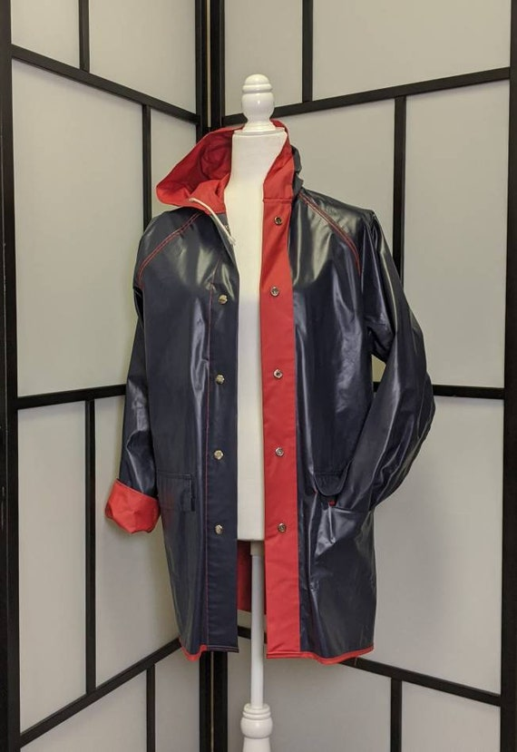 Vintage Lacoste Izod Vinyl Reversible Rain Coat R… - image 8