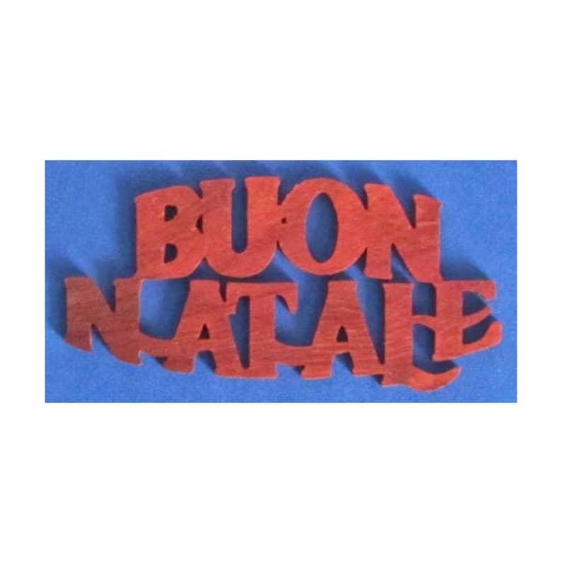 Buon Natale Ornament.Buon Natale Christmas Ornament Hand Cut From Padauk Merry Christmas In Italian