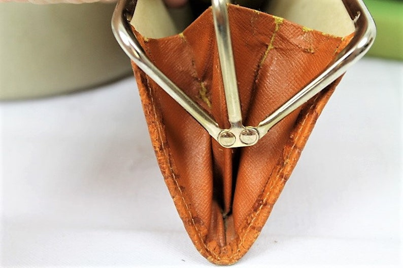 Vintage Ladies Coin Purse1960/'s Leather Coin PurseVintage Brown Purse Ref2008J
