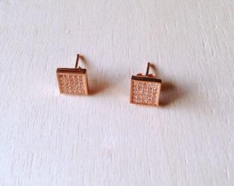 Stud earrings • Dainty earrings • Bridesmaid earrings • Minimal earrings • Rose Gold Earrings
