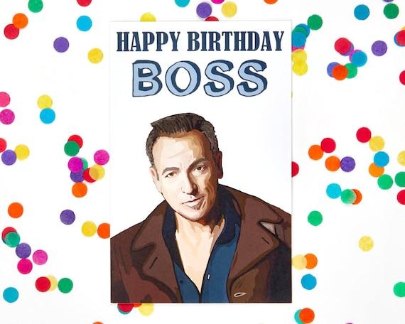 Chef Geburtstag Karte Bruce Springsteen Lustige Etsy