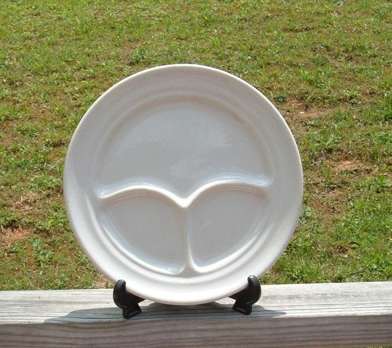Buffalo China Grill Plate~Buffalo China Divided Grill Plate~50s Buffalo China Restaurant Ware Plate Made in USA