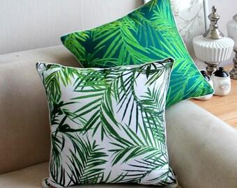 Pteridium Leaf Botanical Plant Cushion Cover\u00a0