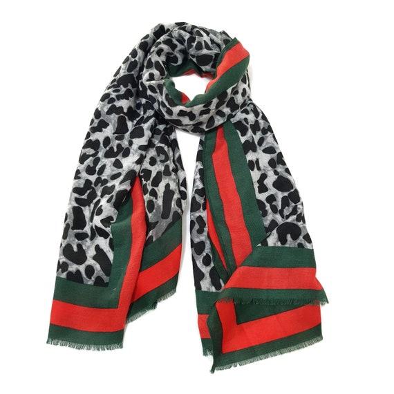 Designer Inspired Leopard Print Brown Cotton Lightweight Scarf Wrap Celebrity