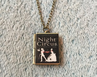The Night Circus Book Locket Necklace
