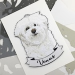 5x7 Custom Pet Portrait PaperArt - name badge, mounted / gift idea, pet memorial, animal art