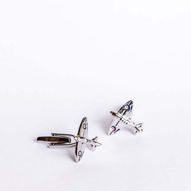 Spitfire Airplane Cufflinks