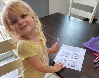 abc printable coloring pages | preschool learning | instant download | alphabet coloring sheets | activities for kids | coloring pages