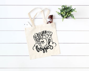 eat your veggies, organic tote, grocery tote, cotton tote, shopping bag,