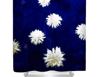 Unique Dandelion Shower CurtainAbstract Firefly DandelionsFloral Bathroom DesignBathroom DecorDesigner Flower CurtainBoho