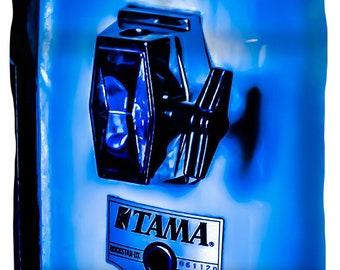 Duvet Cover,Designer Duvet Cover,Tama Drum Set,Pop Art,Blue,Music,Drummer,King,Queen,Full,Twin,Bedroom Home Decor,Rock and Roll,Bedding