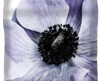 Duvet Cover,Designer Duvet Cover,Poppy Flower,Purple,Lavender,White,Floral Print,King,Queeen,Full,Twin,Bedroom, Home Decor,Bedding, Boho