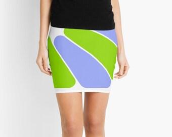 Retro Style Mini Skirt, Modern Skirt, Pencil Skirt, Short Skirts, Mini Skirt, Womens Fashion, Juniors Skirts, Periwinkle, Green, White Skirt