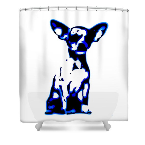 Chihuahua Shower Curtain Dog Bathroom
