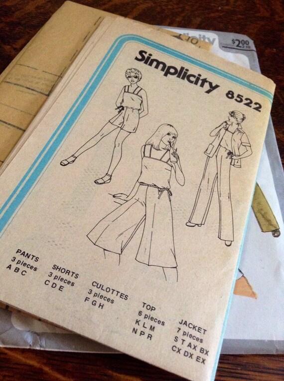 Chaqueta sin forro sencillez Vintage 8522 1978 señoritas Top | Etsy