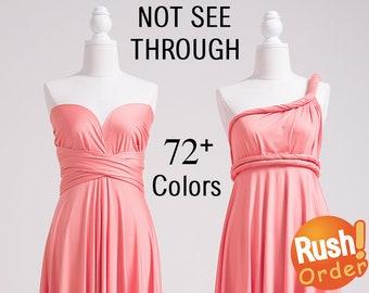 Infinity Dress Pink, Infinity Bridesmaid Dress, SHORT, LONG, PLUS Size, Infinity Wrap Dress, Infinity Maxi Dress, Maternity Infinity Dress