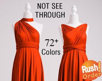 Bridesmaid Dress Burnt Orange, Infinity Dress, SHORT, LONG, PLUS Size, Infinity Wrap Dress, Infinity Maxi Dress, Maternity Infinity Dress