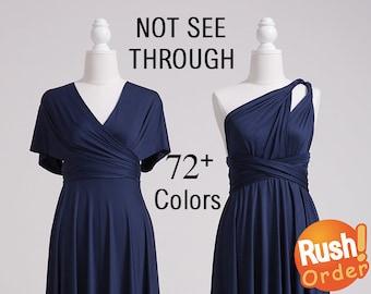 Navy Blue Bridesmaid Dress, Infinity Dress Navy, SHORT, LONG, PLUS Size, Infinity Wrap Dress, Infinity Maxi Dress, Maternity Infinity Dress