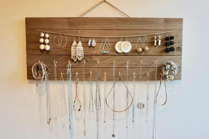 Wooden Jewelry Holder