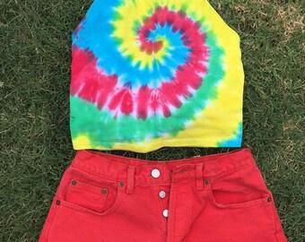 Vintage Red Shorts