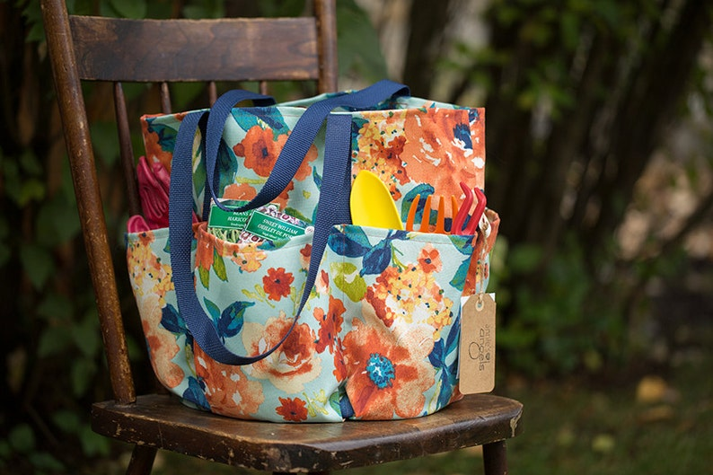 floral patterned canvas tote durable everyday women/'s bag bags full of pockets pockets outdoor fabric