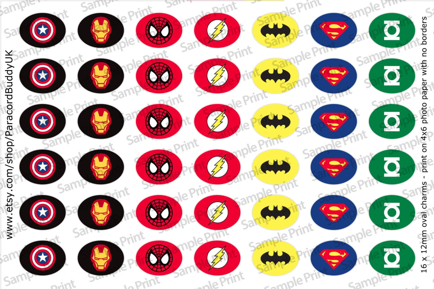 Super Hero 12x16mm Paracord Shoelace Charm Template Image   Etsy