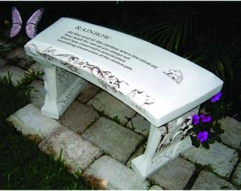 Rainbow Bridge  ( STOCK ) for customization see CUSTOM Rainbow bench