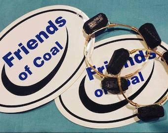 Coal Wire Bracelet / wire bangle