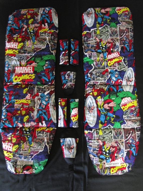 Handmade pram liner set-Marvel comics-100/% cotton,universal*Funky babyz