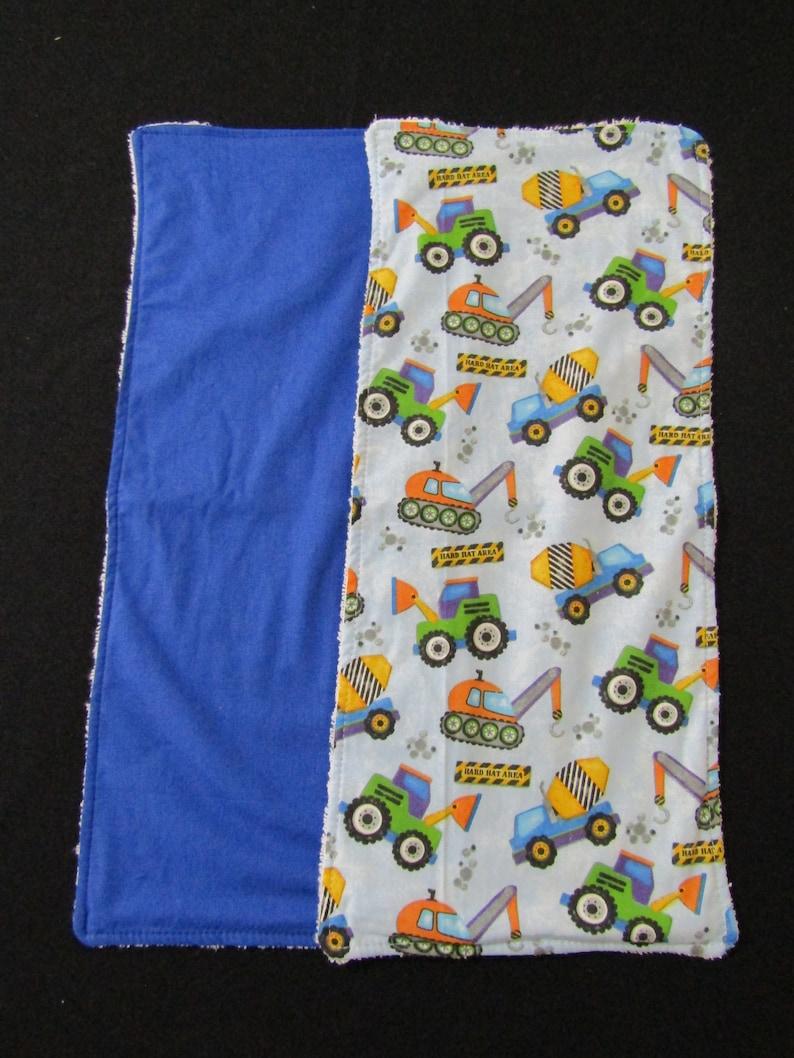 Baby burp cloths pack of 5-Trucks-Made in Australia #40