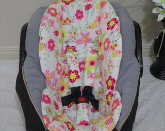 Handmade baby capsule liner set,100% cotton,universal-Pink flowers.