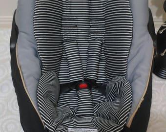 Handmade baby capsule liner set,100% cotton,universal-Black stripes.