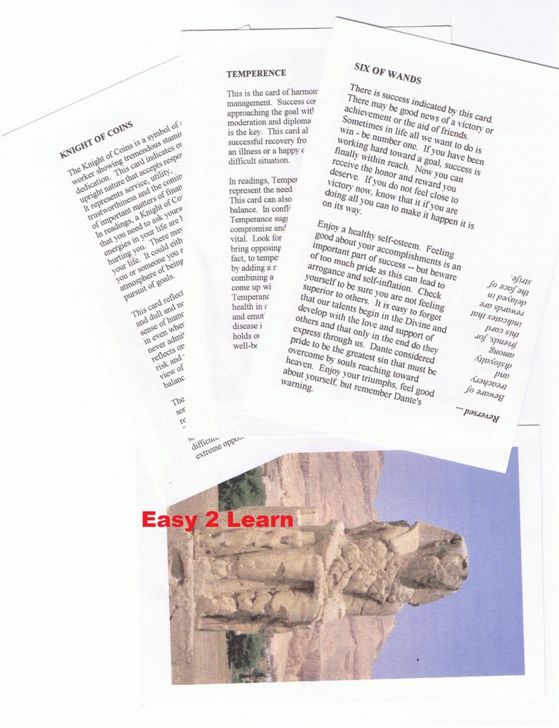 Learn Tarot E-Book EASY Astrology Numeroloy Cheat Sheet image 0