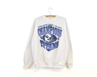 1999 Vintage Tennessee Titans Football Crew Neck Sweatshirt b9054b560