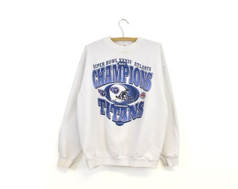 1999 Vintage Tennessee Titans Football Crew Neck Sweatshirt 09aa26824