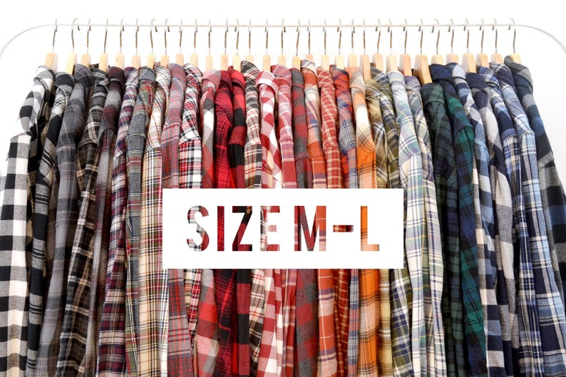 Buy 2 Get Any 1 Free Oversized Vintage Flannel Shirts  Size image 0