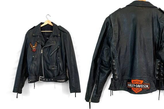 Vintage Harley Davidson Black Leather Jacket | Mot