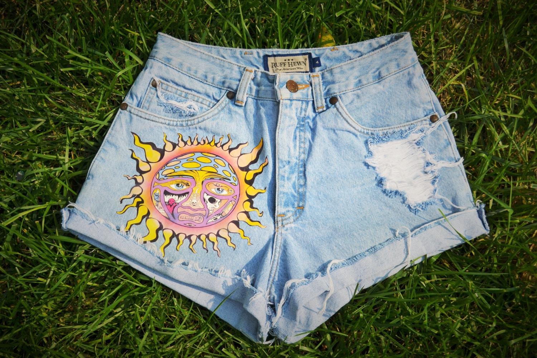 9d10abc9f9 Custom Handmade Inspired Sublime High Waisted Shorts | Etsy