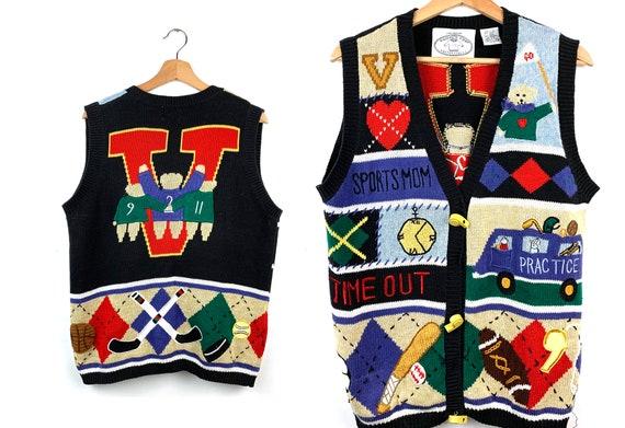 Vintage Sports Team Novelty Sweater