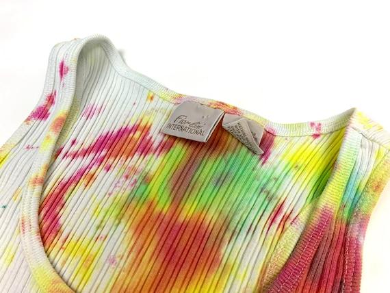 Vintage Y2K Tie Dye Tank Top - image 6