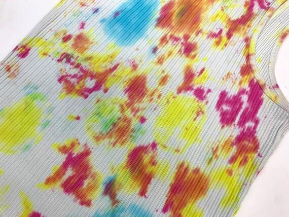 Vintage Y2K Tie Dye Tank Top - image 7