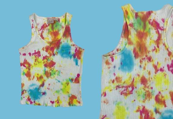 Vintage Y2K Tie Dye Tank Top - image 1