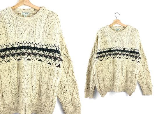 Vintage 100% Wool LL Bean Oversized Sweater