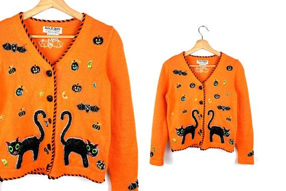 Vintage Ugly Halloween Cardigan Sweater