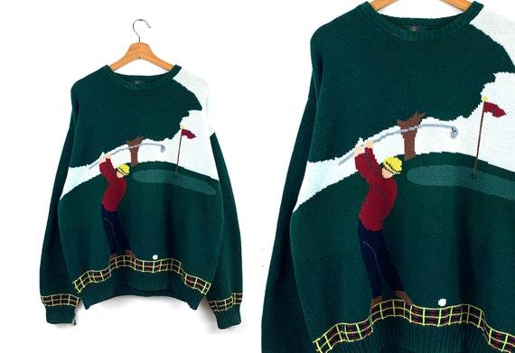 90s Vintage Golf Novelty Sweater
