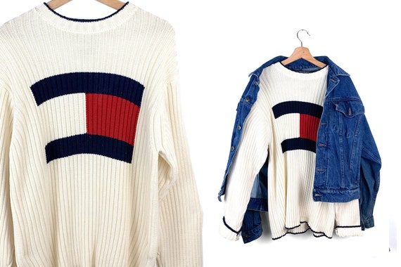 Vintage Authentic Tommy Hilfiger Logo Sweater